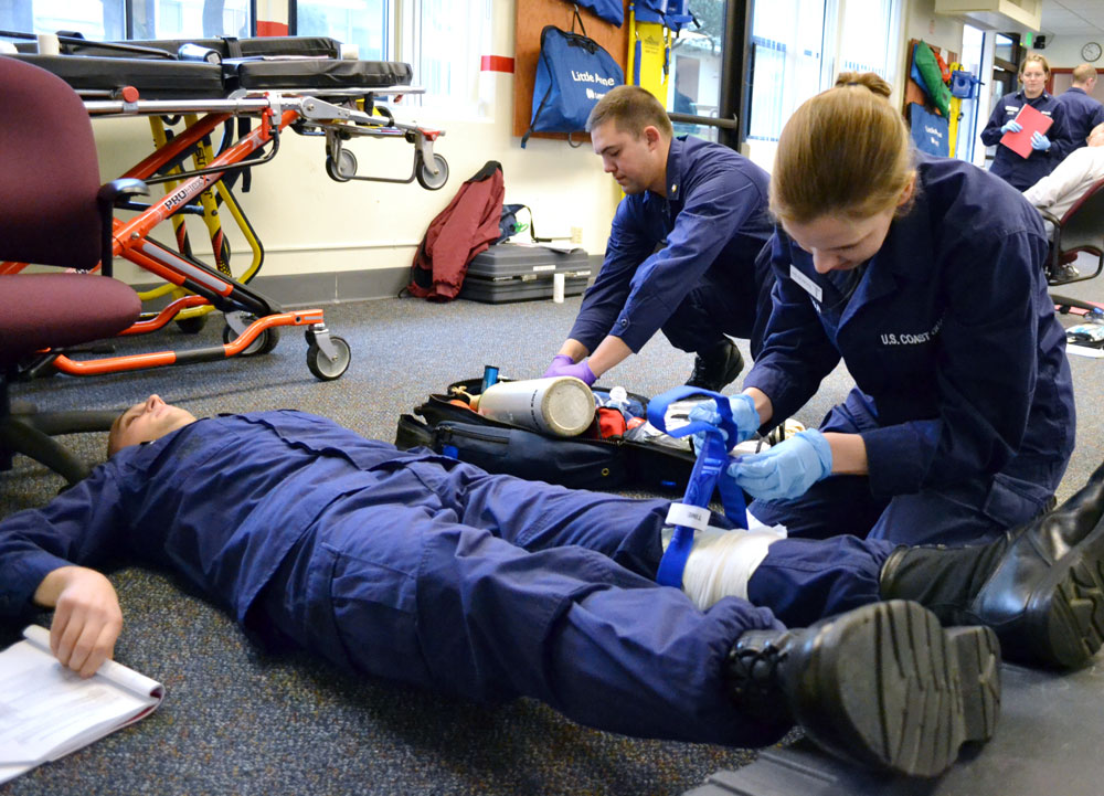 Emergency Medical Technician And Paramedics At Work