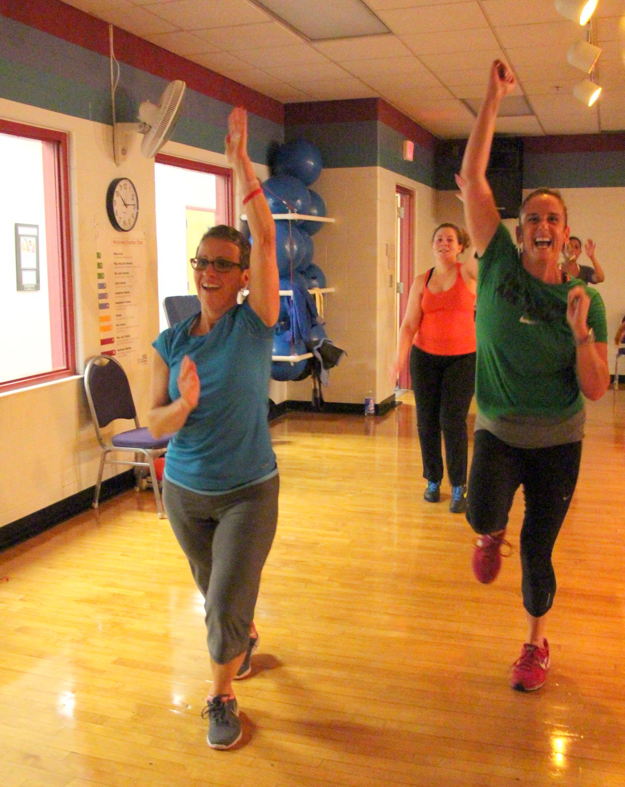 Insantiy class at the Meriden YMCA