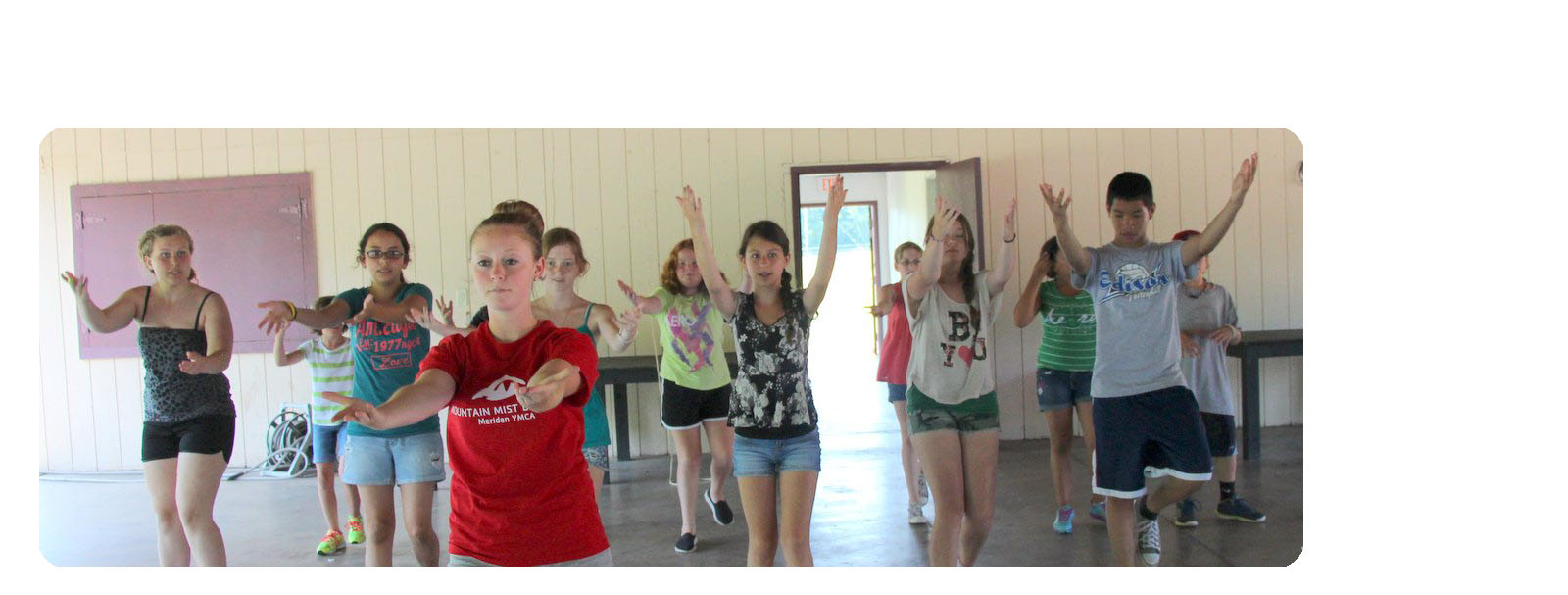 Chantel teaching at Musical Theater Camp